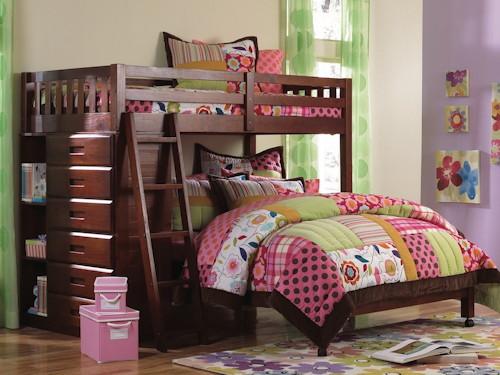 NE Kidz • Merlot Loft Bed (Twin/Full)