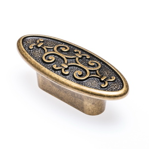 Art Nouveau – Oval / Brass