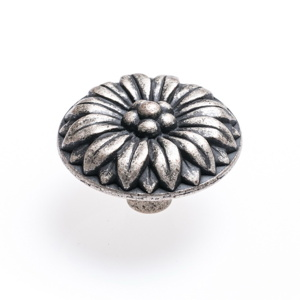 Round Flower – Pewter