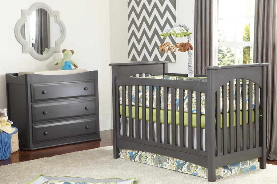 braxton traditional crib in slate