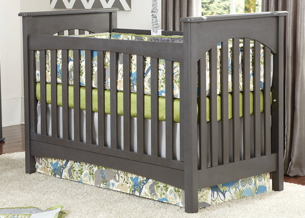 Braxton Traditional Crib in Slate