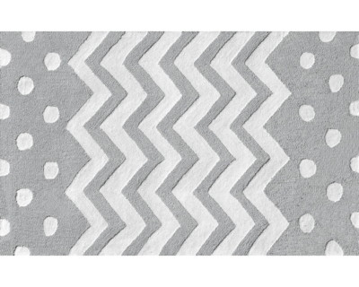 Zigzag Rug in Gray