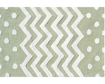 Zigzag Rug in Green
