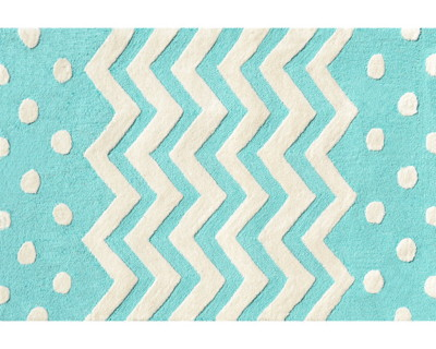 Zigzag Rug in Teal