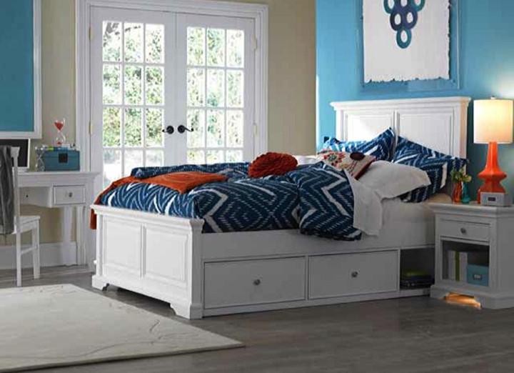 NE Kids Devon Panel Bed In White