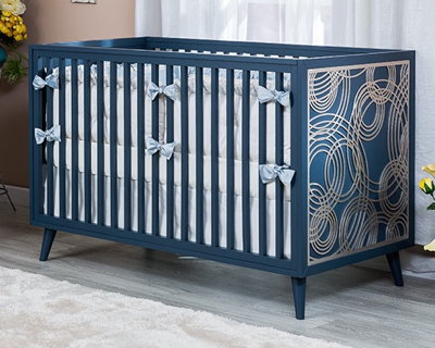 Romina New York Convertible Crib in Navy