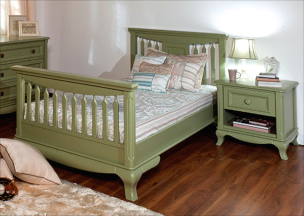 Romina Antonio Twin Bed in Olive