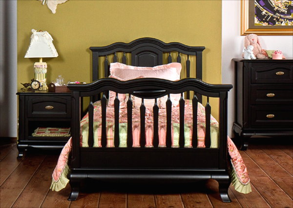 Romina Cleopatra Twin Bed in Nero