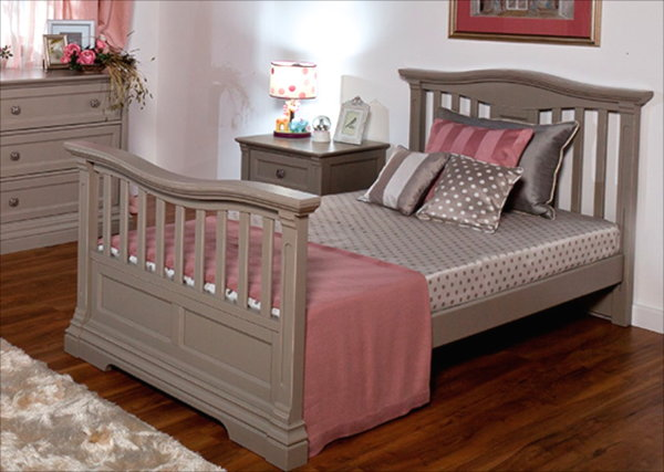Romina Imperio Twin Bed in Grey