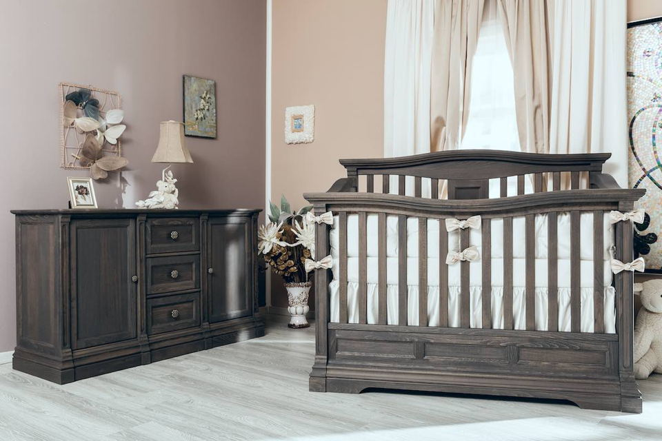 Romina - Imperio Collection with Convertible Crib in Oil Grey