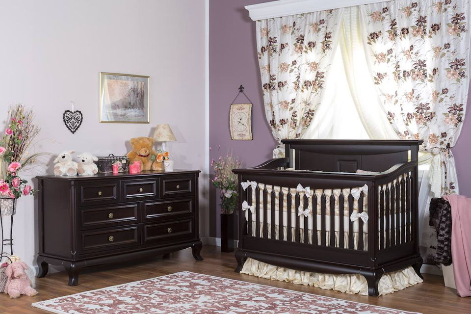 Romina - Antonio Collection with Convertible Crib in Bruno Rossso