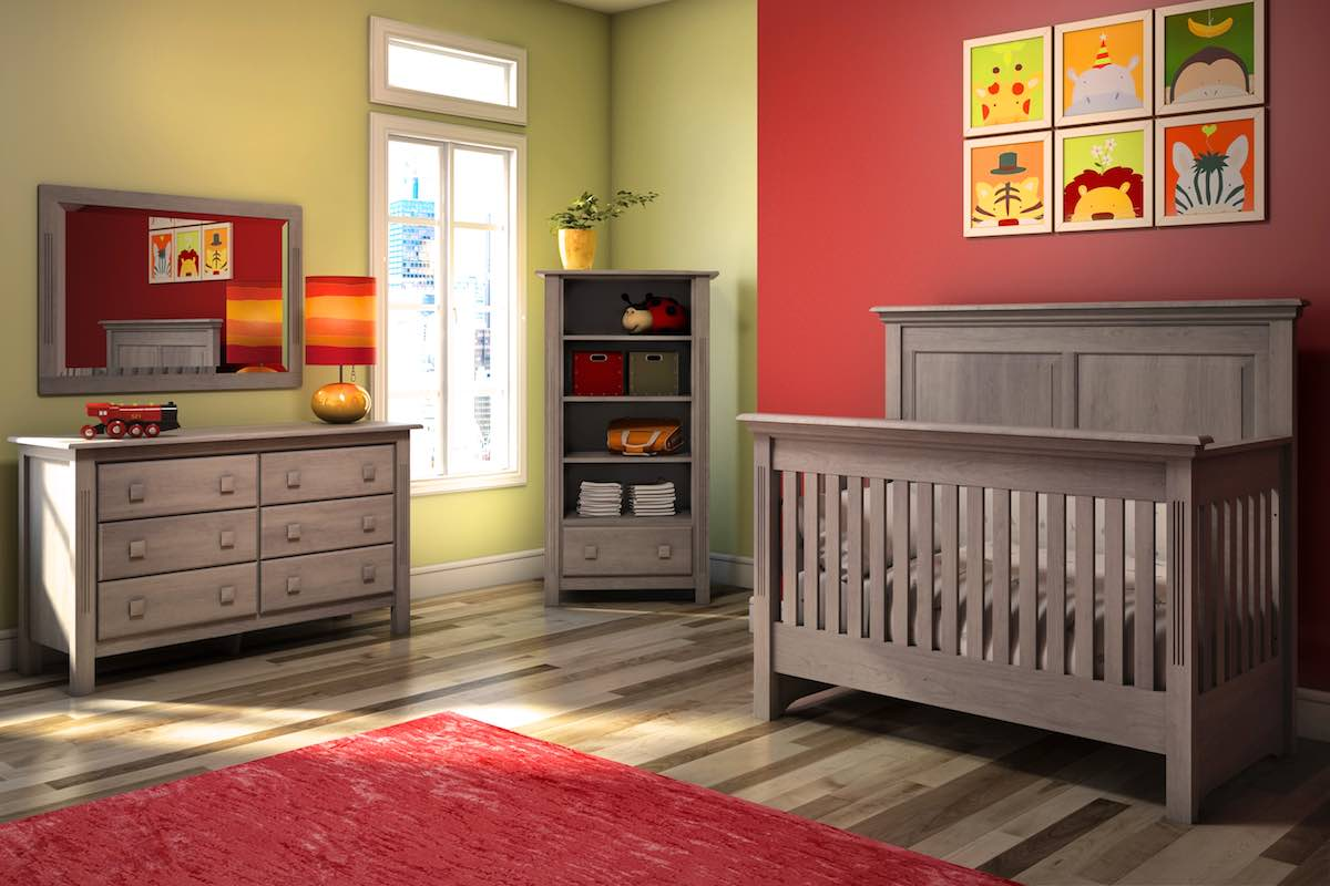Kidz Decoeur - Pembroke Collection with Convertible Crib in Storm Grey
