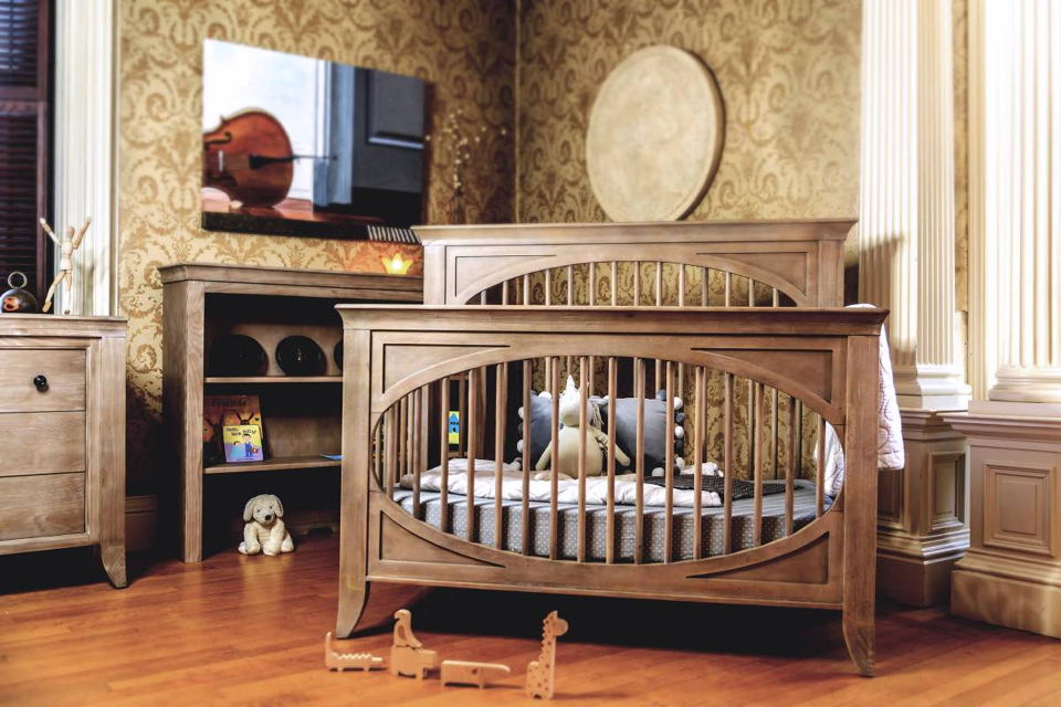 Milk Street Baby - Cameo Collection with Oval Convertible Crib in Toast