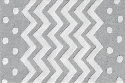 Zigzag Run in Gray